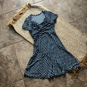 Silky checked dress size s